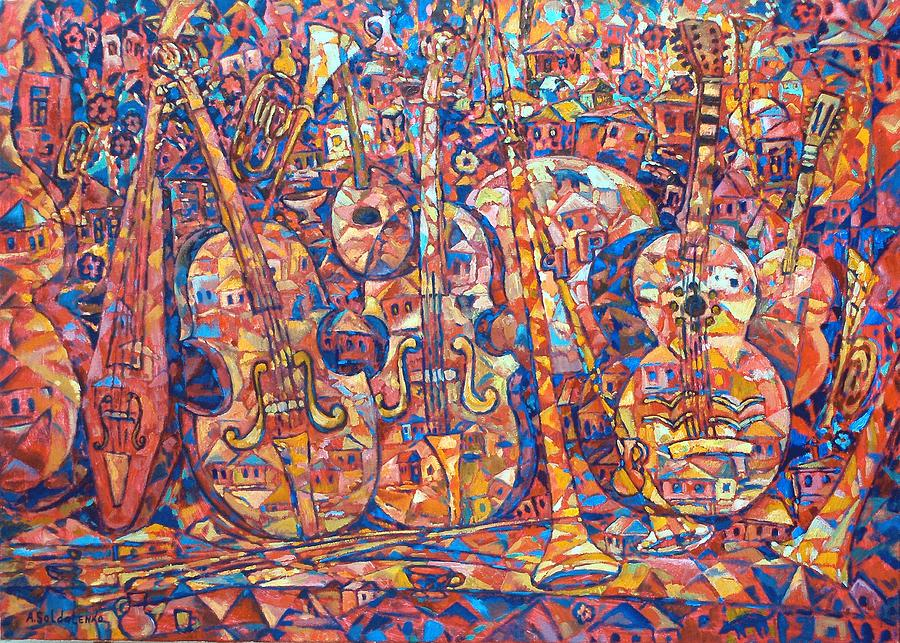 Composition with musical instruments painting by andrey for The craft of musical composition