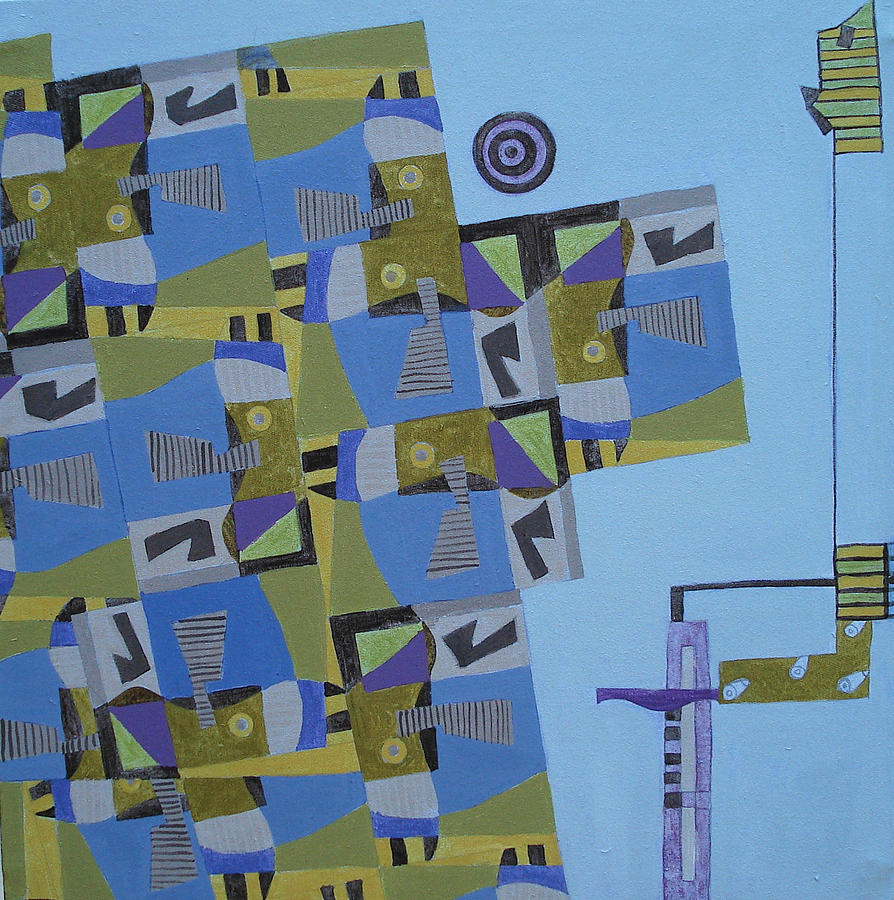 Paintings Painting - Composition Xi-07 by Maria Parmo