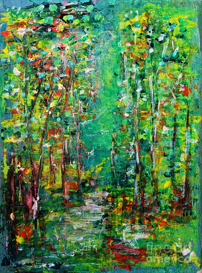 Landscape Painting - Compost by Chaline Ouellet