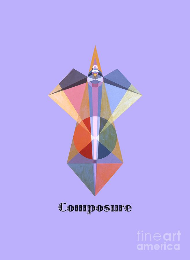 Tarot Painting - Composure text by Michael Bellon