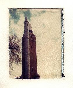 Polaroid Transfer Photograph - Compton Water Tower by Jane Linders