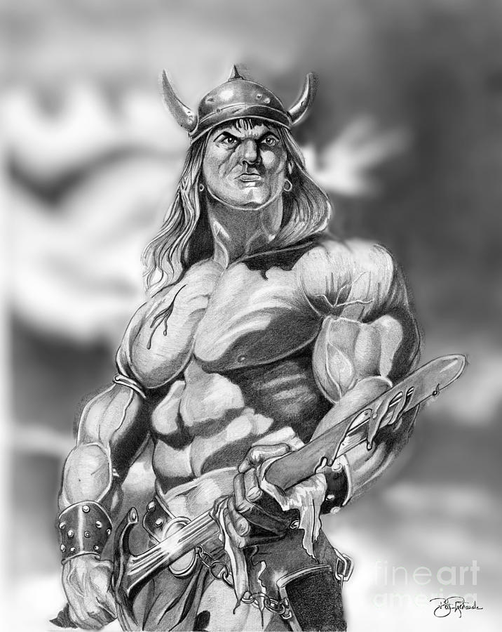 Pencil Drawing - Conan by Bill Richards