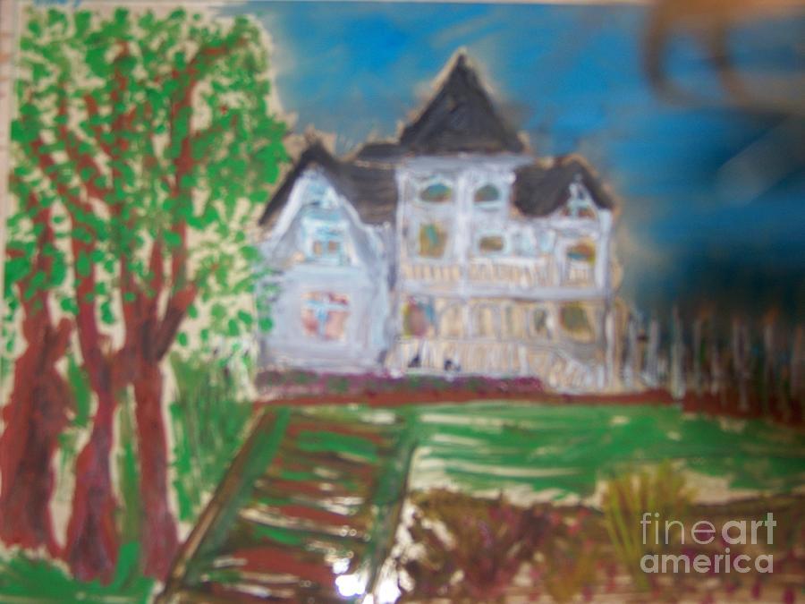 Historic Site Glass Art - Concannon White House Ldt Series by Maggie Cruser