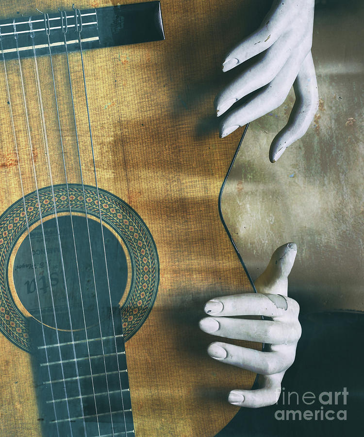 Guitar Photograph - Conceputal   by Steven Digman