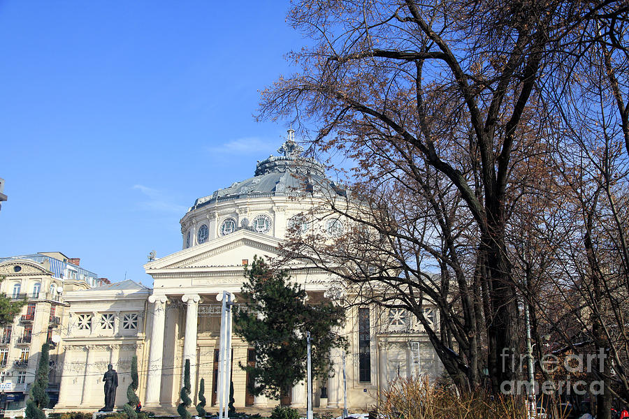 Bucharest Photograph - concert hall in Bucharest, Romania by Vladi Alon