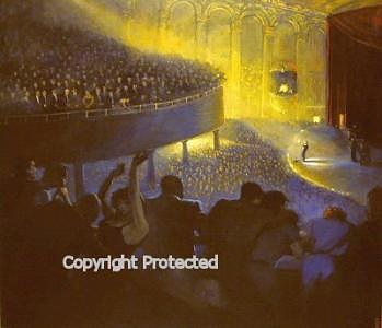 Figurative Painting - Concert In Blue by Ron Anderson