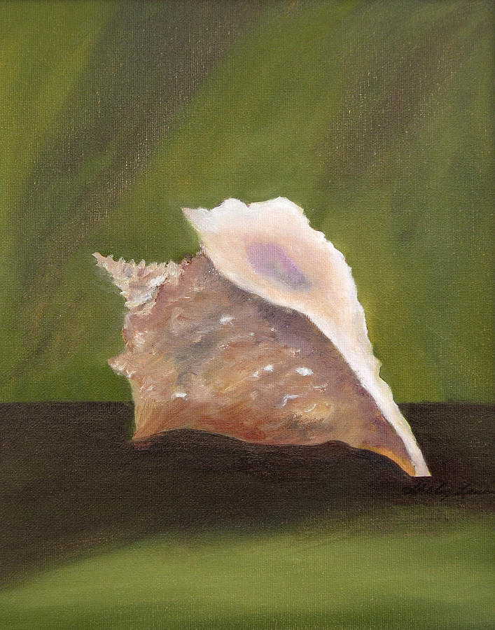 Conch Shell Painting by Shirley Lawing