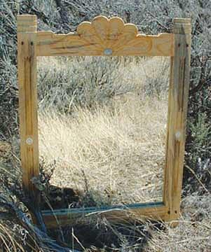 Glass Mixed Media - Concho Mirror by Steven Straight