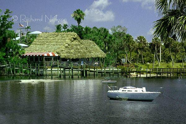 Tiki Bar Photograph - Conchy Joes by Richard Nickson