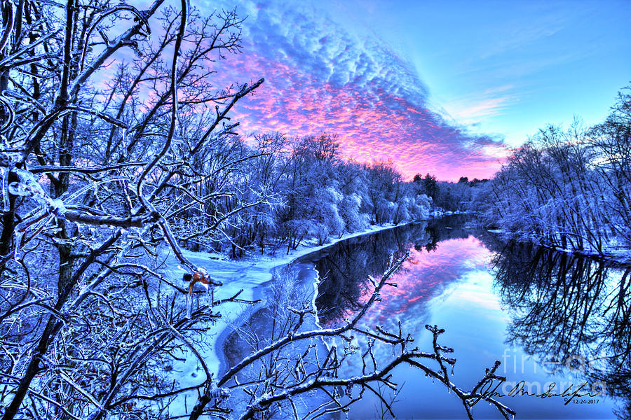 Concord River sunset by John Sandiford