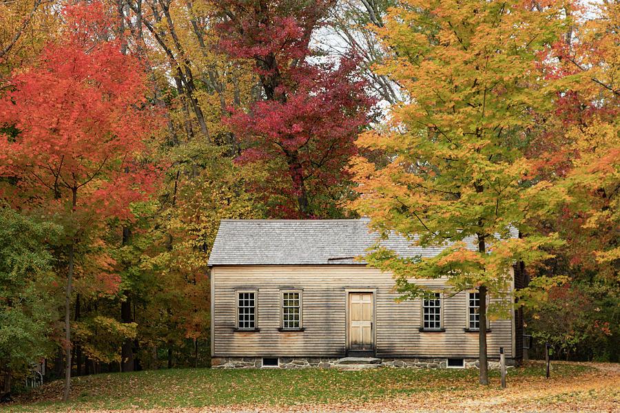 New England Fall Foliage Photograph - Concords Robbins Farm by Jeff Folger