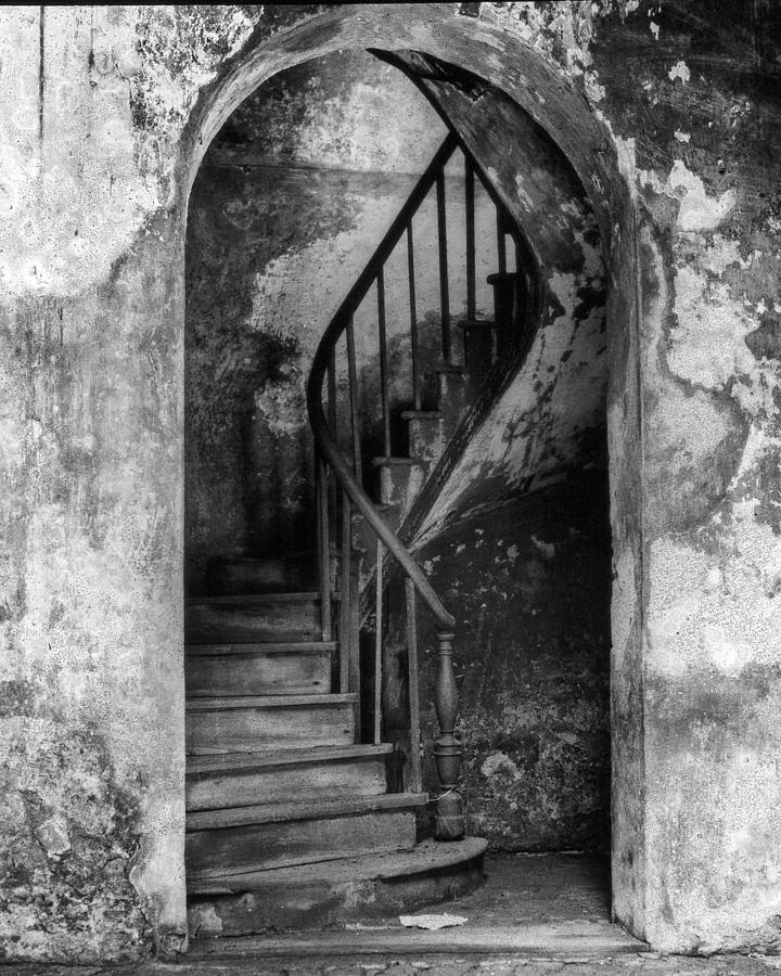 Concrete Photograph - Concrete And Stairwell by Crescent City Collective
