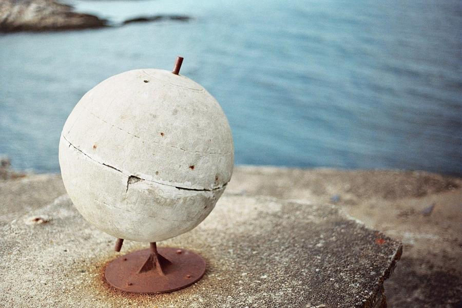 Andenes Photograph - Concrete Globe by Gregory Barger