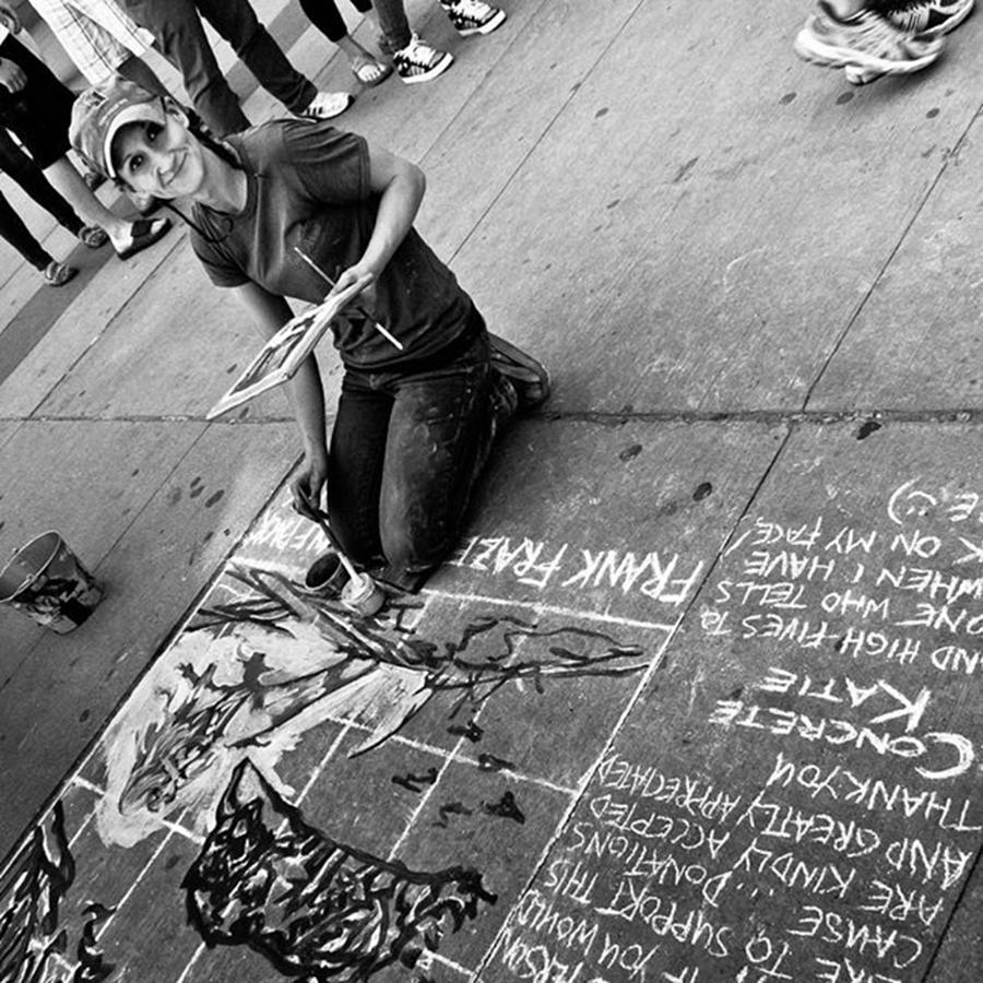 Toronto Photograph - Concrete Katie Making The World A More by Brian Carson