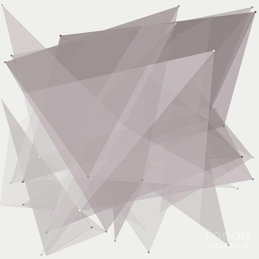 Abstract Digital Art - Concrete Polygon Pattern by Frank Ramspott