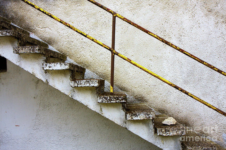 Concrete stair grunge wall by Jan Brons