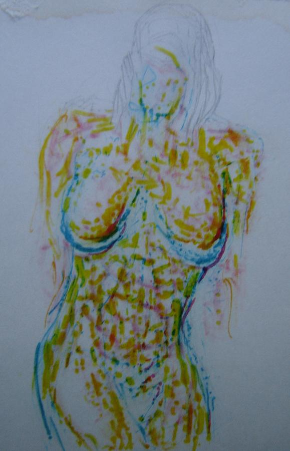 Female Nude Drawing - Concubine by Dean Corbin