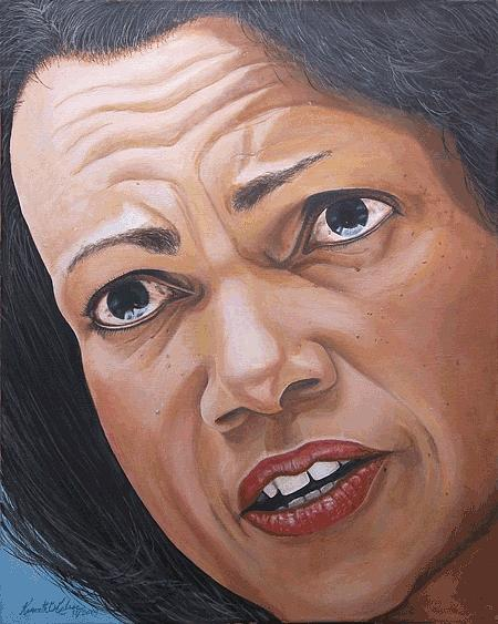Condaleezza Rice Painting by Kenneth Kelsoe