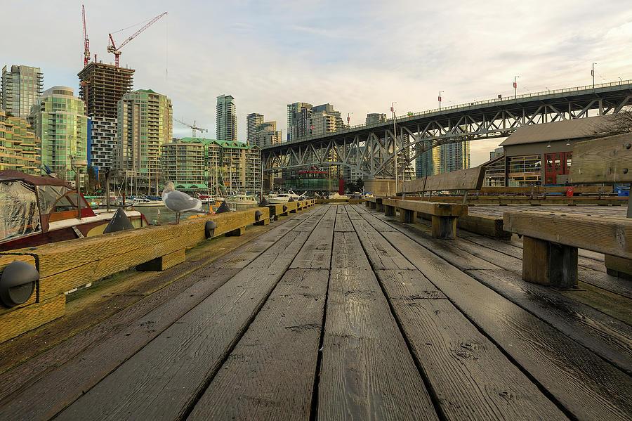 Granville Island Photograph - Condominium Buildings Along Granville Island Vancouver Bc by David Gn