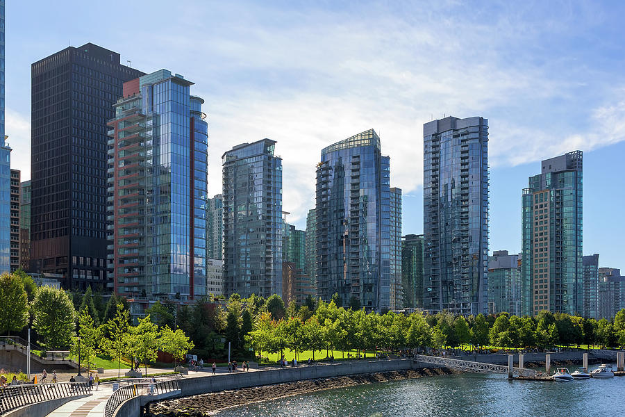 Vancouver Photograph - Condominium Waterfront Living in Vancouver BC by David Gn
