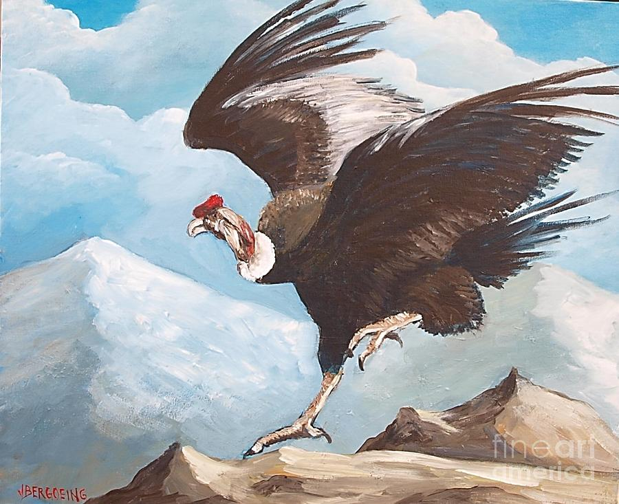 Condor Painting - Condor by Jean Pierre Bergoeing