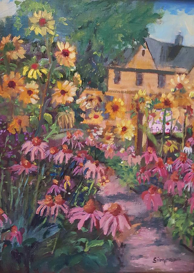 Cone Flower Garden by Cheryl LaBahn Simeone