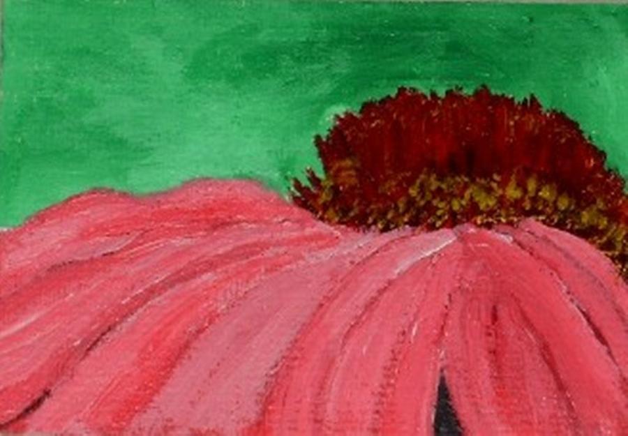Cone Flower Painting - Cone Flower by Leslye Miller
