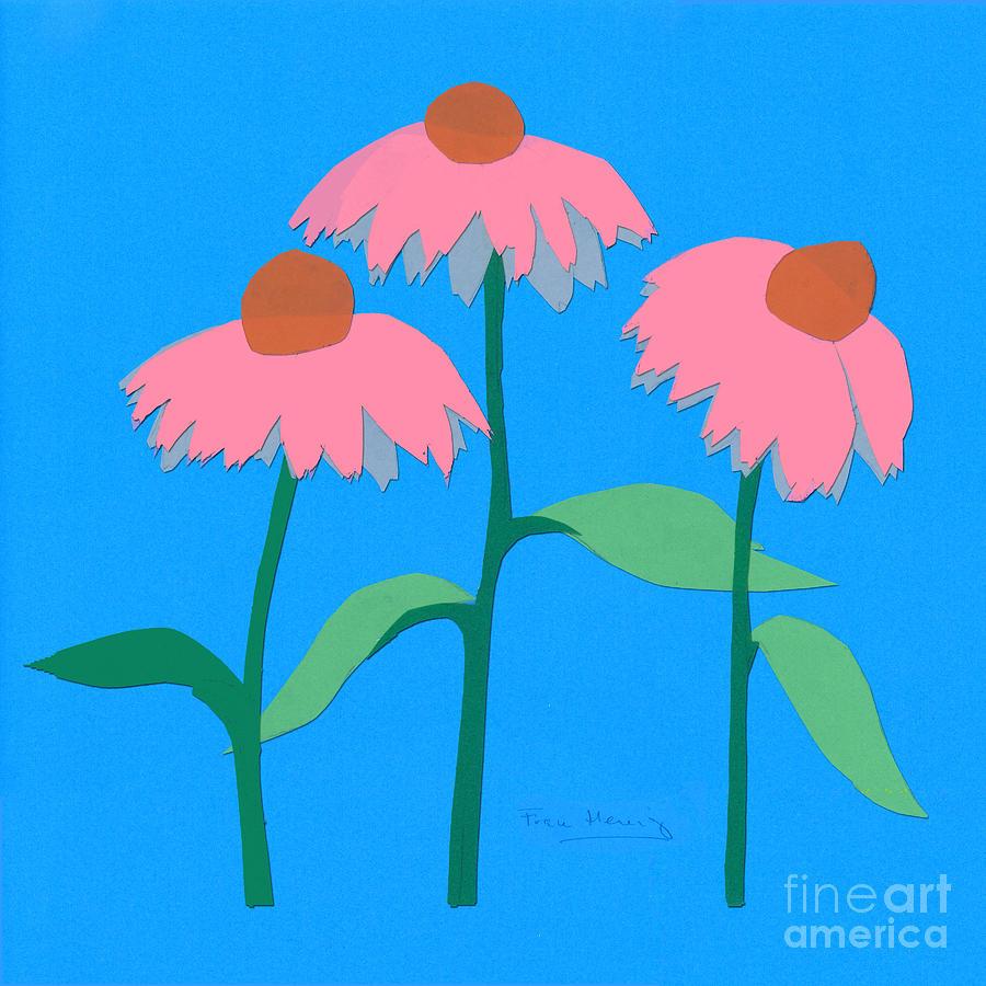Cone flowers by Fran Henig