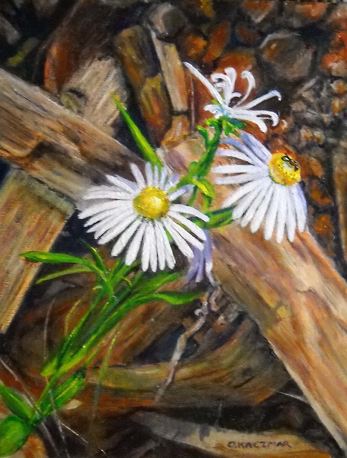 Flower Still Life Painting - Coneflowers by Olga Kaczmar