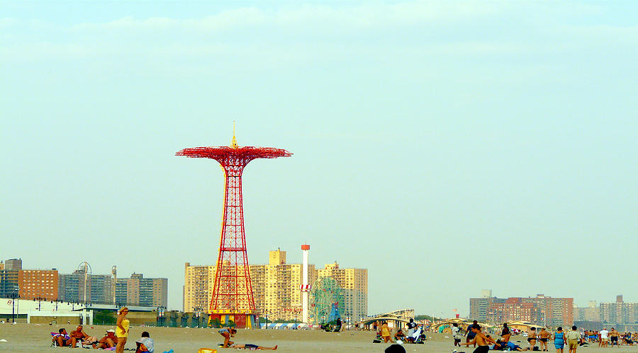 Coney Island Photograph - Coney Island Amusement Park by Kendall Eutemey