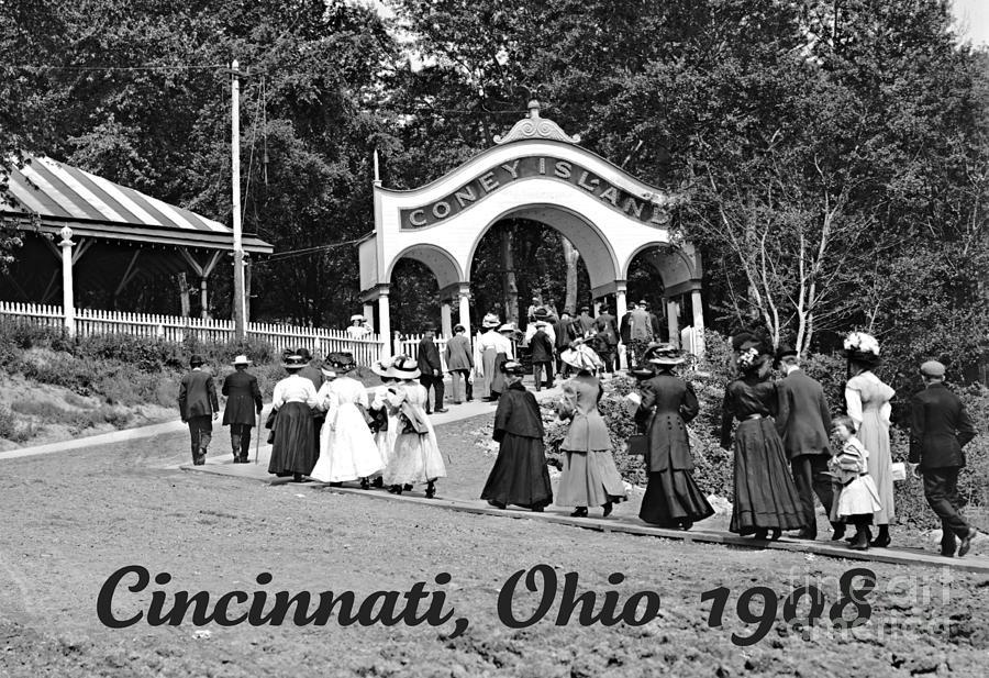 Coney Island in Cincinnati 1908 Photograph by Padre Art