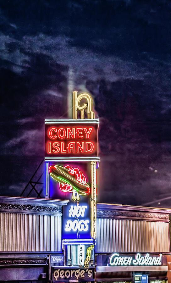 Massachusetts Photograph - Coney Island Night by Bob Bernier