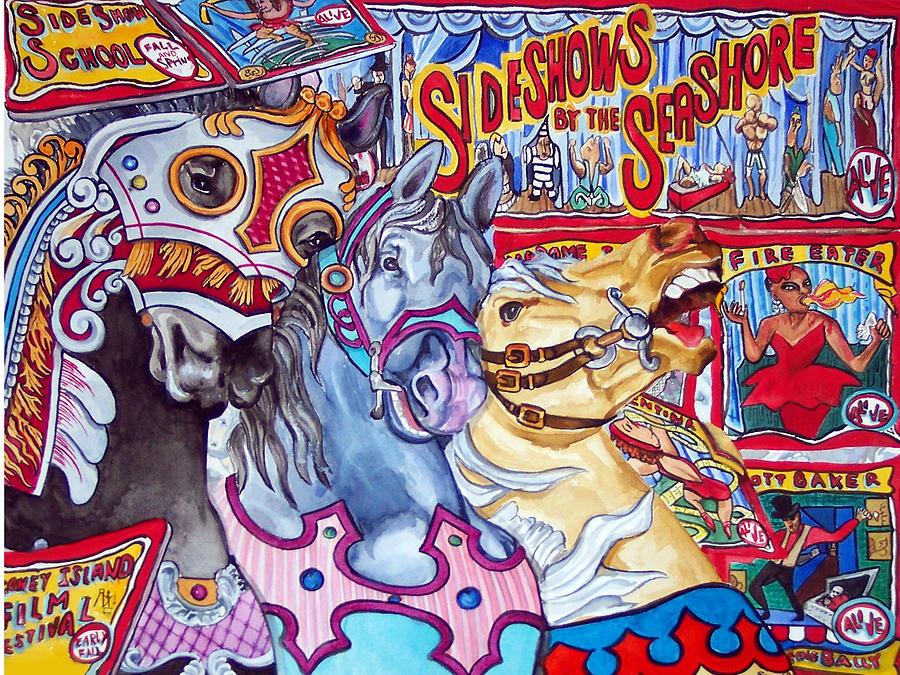 Horses Print - Coney Island Runaway by Bette Gray