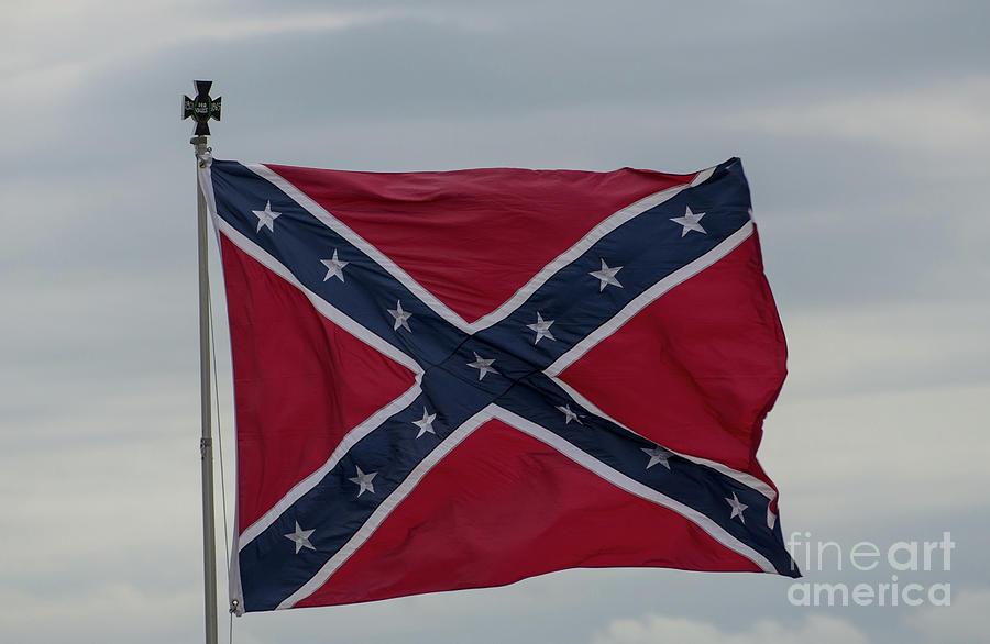 Battle Flag Photograph - Confederate Battle Flag by Dale Powell