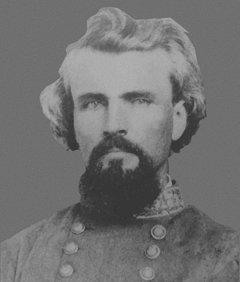 Nathan Bedford Forrest Painting - Confederate General Nathan Forrest by War Is Hell Store