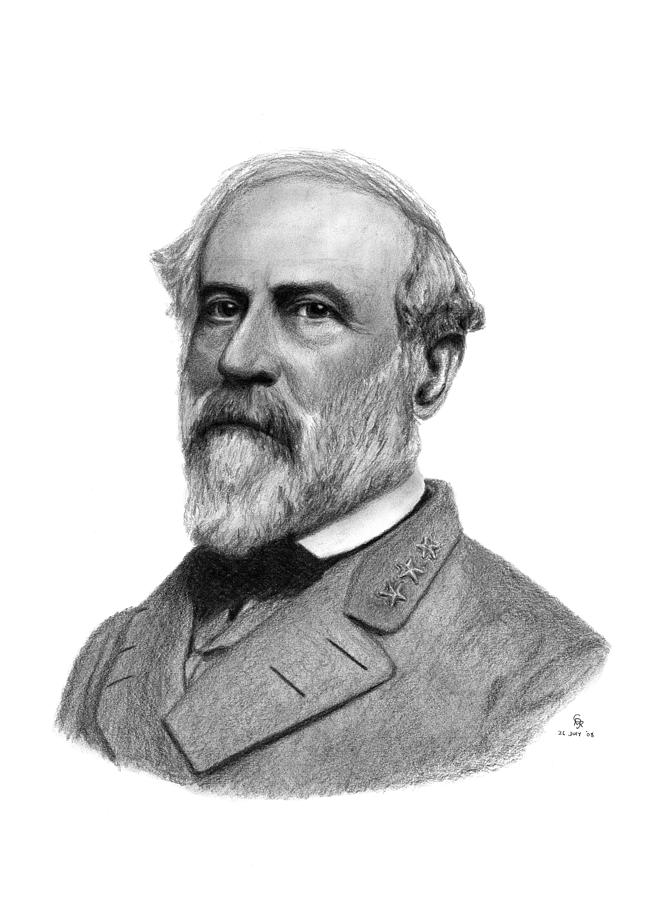 confederate general robert e lee drawing by charles vogan. Black Bedroom Furniture Sets. Home Design Ideas