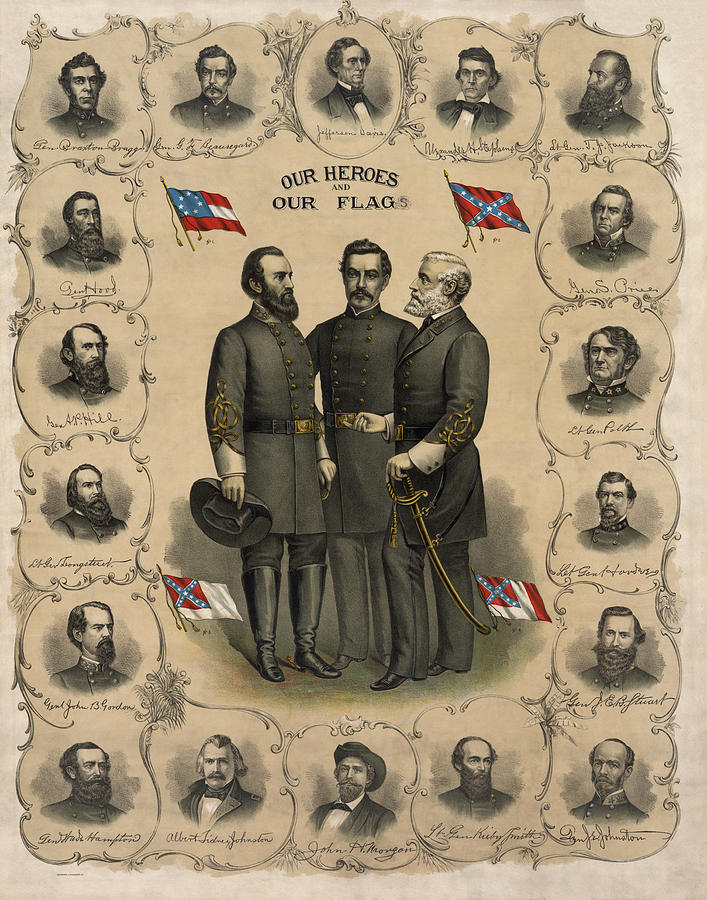 Confederate Generals Of The Civil War Painting