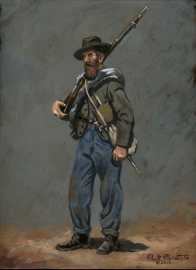 Confederate Infantryman 1863 Painting By Mark Maritato