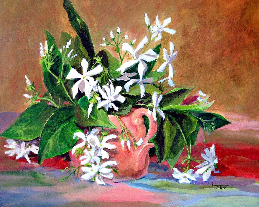 Floral Painting - Confederate Jasmine by Jimmie Trotter