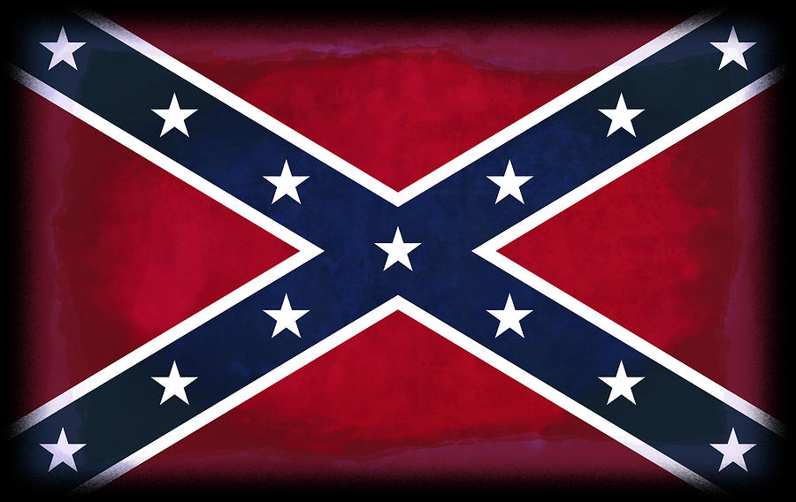 Confederate Flag Digital Art - Confederate Rebel Battle Flag by Daniel Hagerman