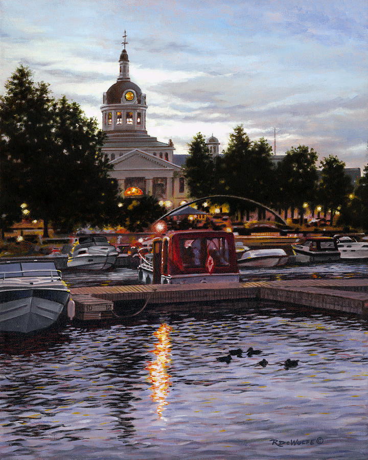 Kingston Painting - Confederation Park by Richard De Wolfe