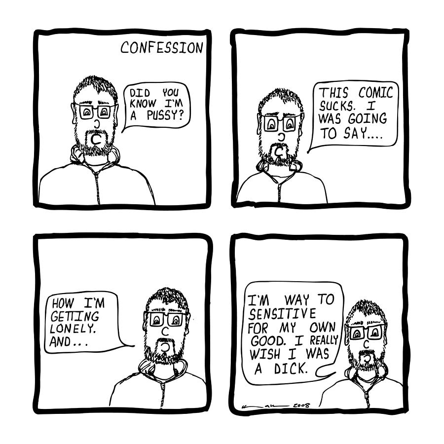 Drawing Drawing - Confession Comic by Karl Addison