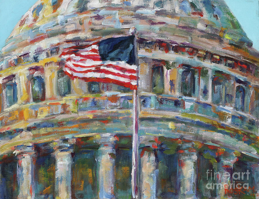 U.s. Capitol Painting - Confetti Dome by Elizabeth Roskam