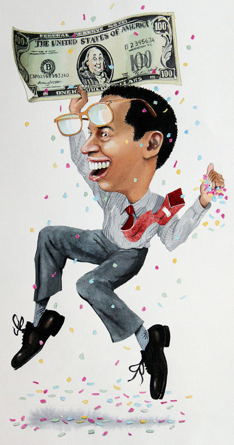 Money Painting - Confetti Man by Denny Bond