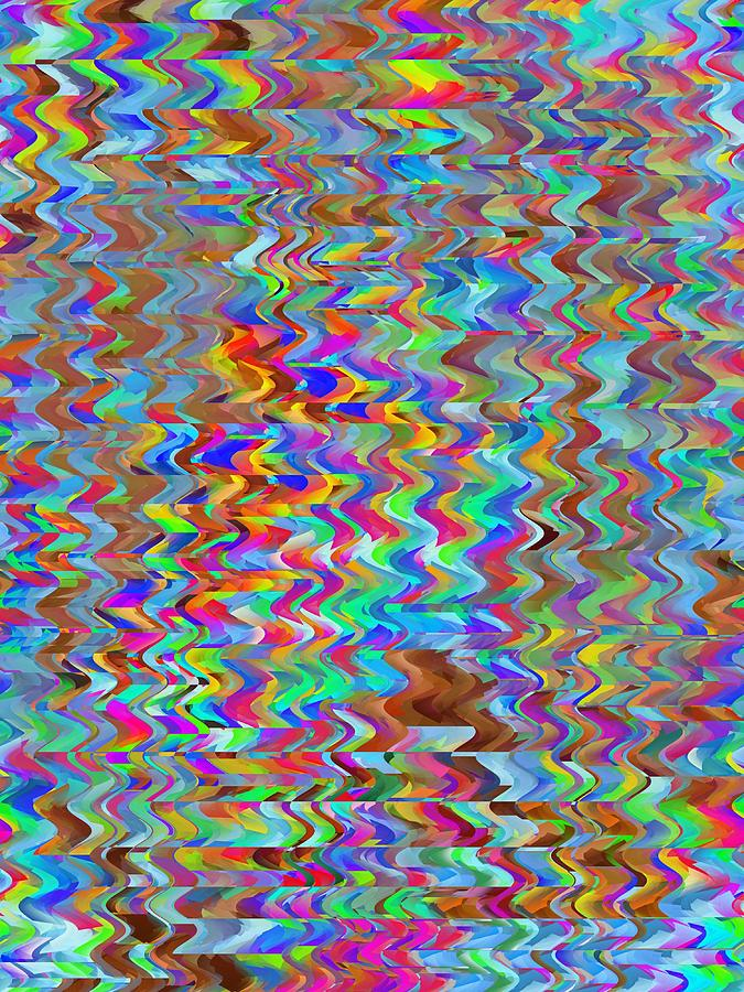 Abstract Digital Art - Confetti On The Fly by Tim Allen