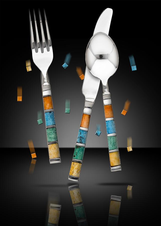 Silverware Photograph - Confetti by Ronn Orenstein