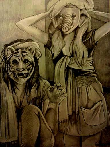 Confidence Isnt Primitive. Drawing by Corey Stewart