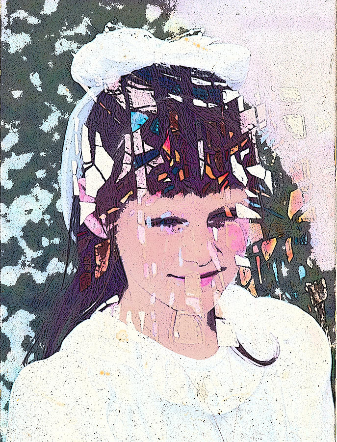 Girl Digital Art - Confirmation by Arline Wagner