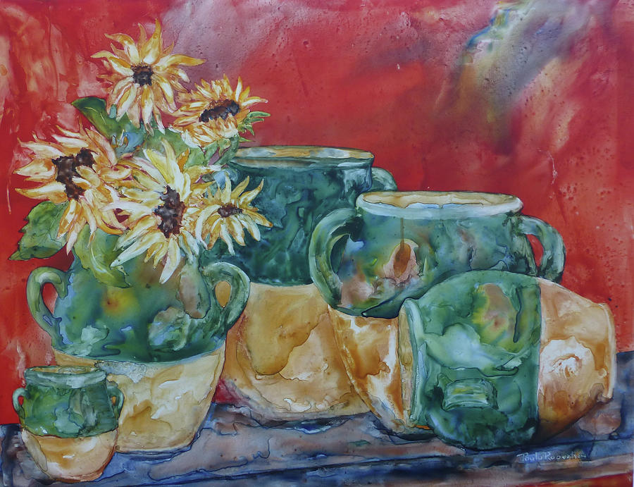 Confits and Sunflowers by Paula Robertson