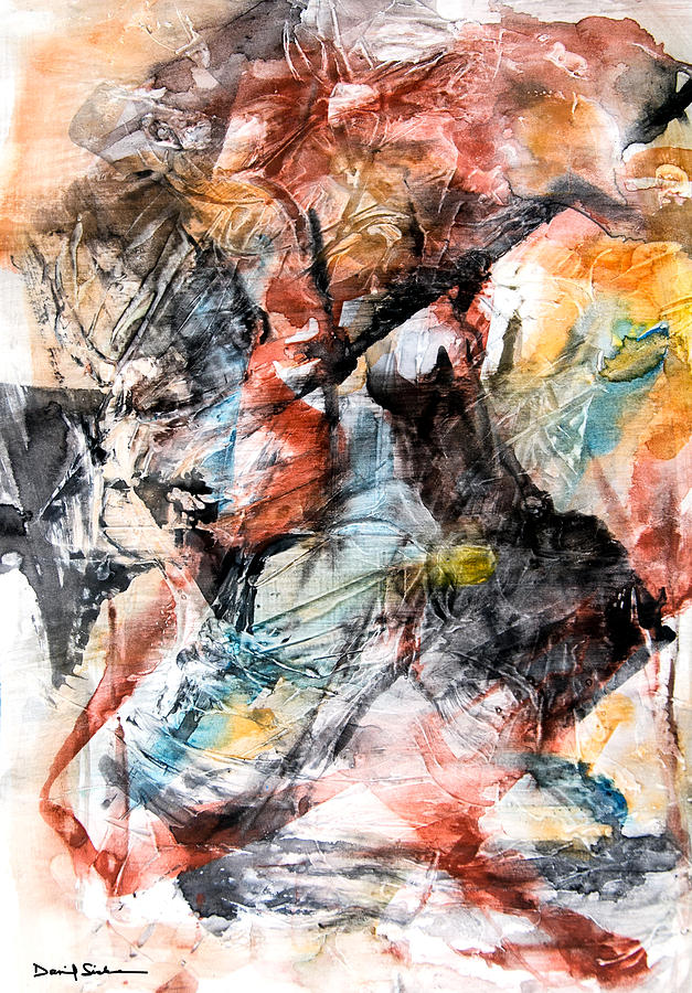 Abstract Painting - Conflict And Dialogue by Dan Sisken